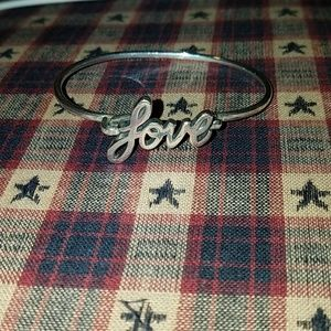 "BEST OFFER* ""Love"" hook bracelet"